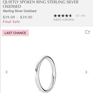 Pandora Quietly Spoken Ring